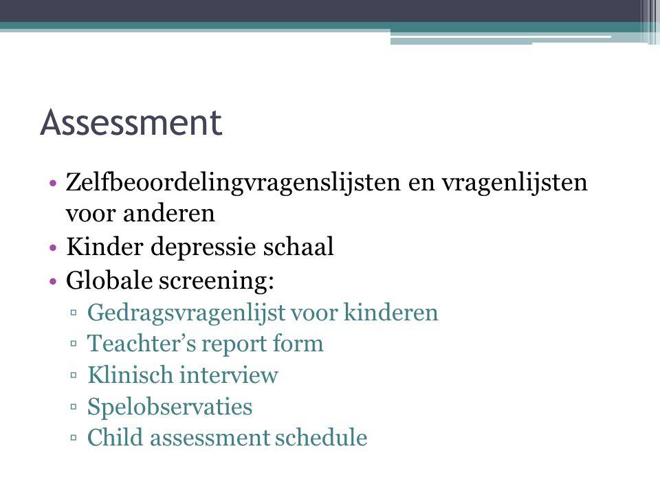 Assessment Zelfbeoordelingvragenslijsten en vragenlijsten voor anderen