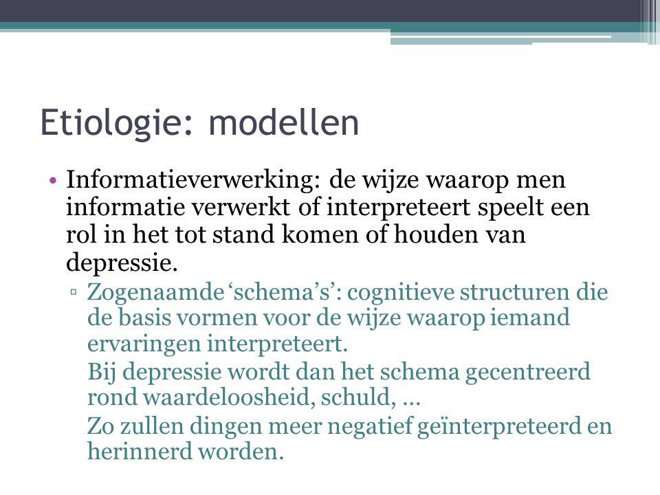 Etiologie: modellen