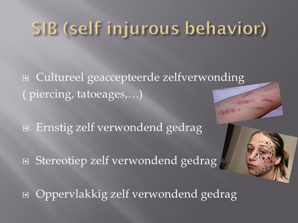SIB (self injurous behavior)