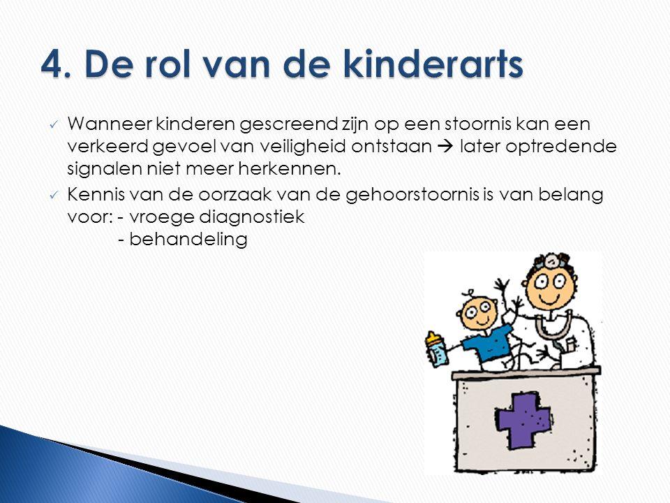 4. De rol van de kinderarts