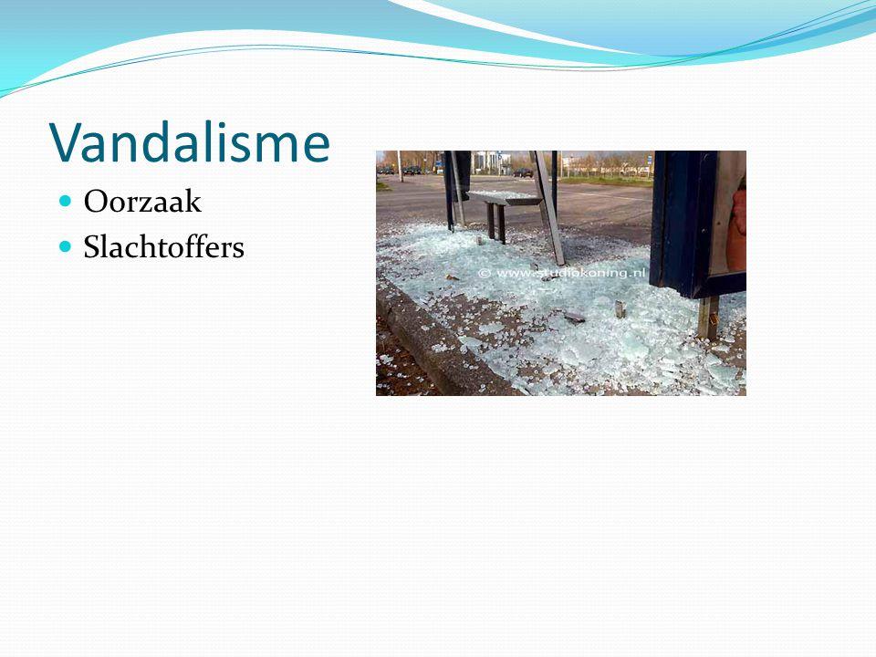 Vandalisme Oorzaak Slachtoffers