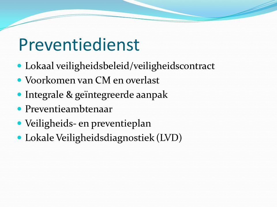Preventiedienst Lokaal veiligheidsbeleid/veiligheidscontract