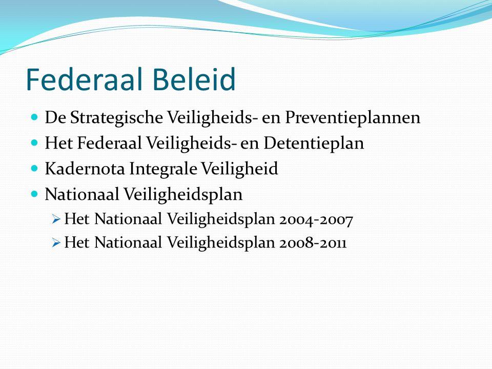 Federaal Beleid De Strategische Veiligheids- en Preventieplannen