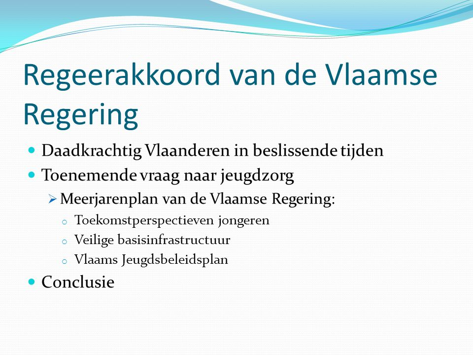 Regeerakkoord van de Vlaamse Regering