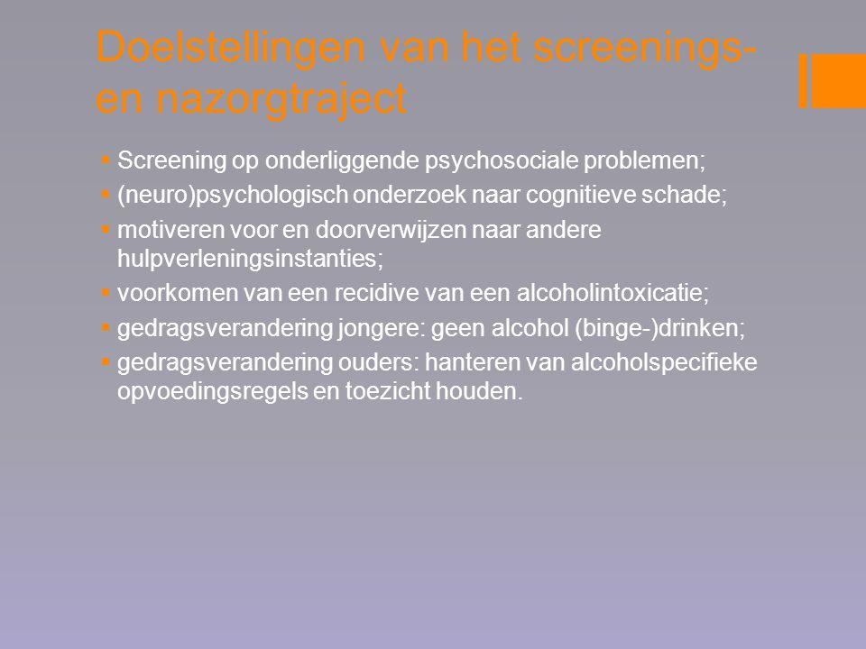 Doelstellingen van het screenings- en nazorgtraject