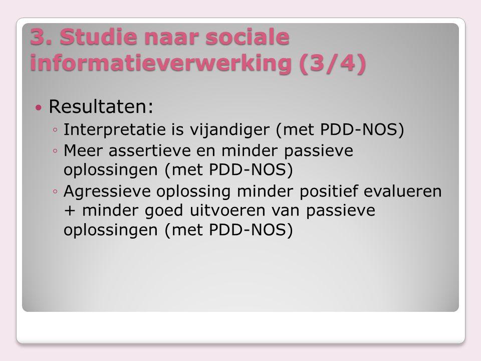 3. Studie naar sociale informatieverwerking (3/4)