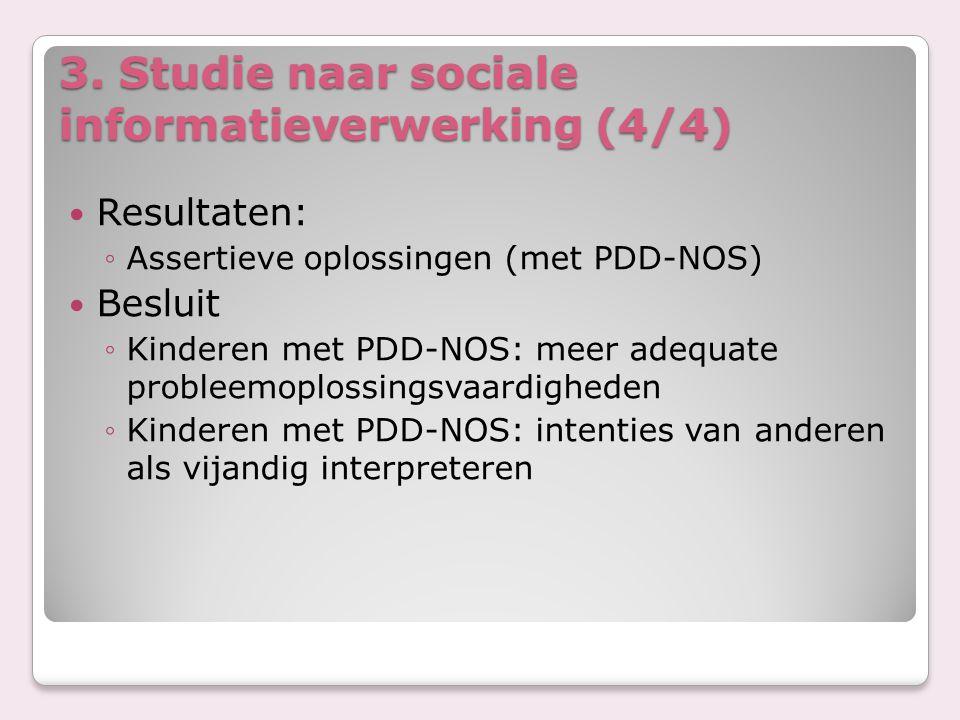 3. Studie naar sociale informatieverwerking (4/4)