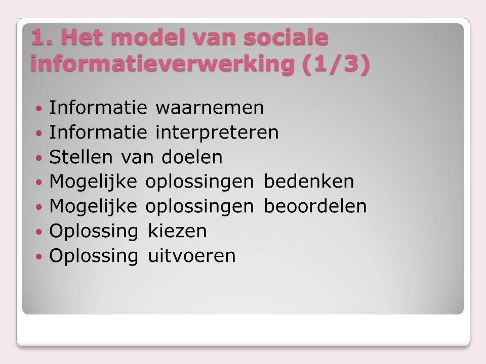 1. Het model van sociale informatieverwerking (1/3)