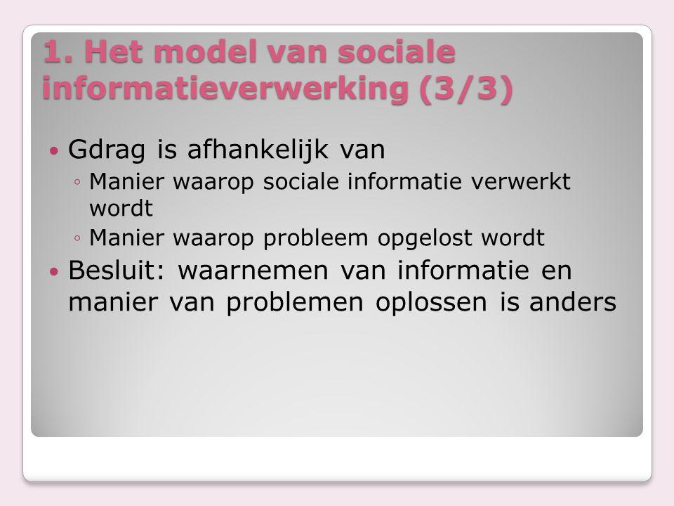 1. Het model van sociale informatieverwerking (3/3)