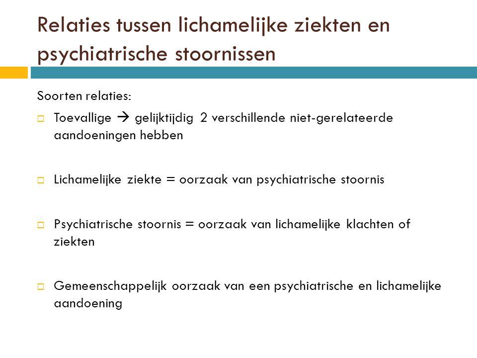 Relaties tussen lichamelijke ziekten en psychiatrische stoornissen