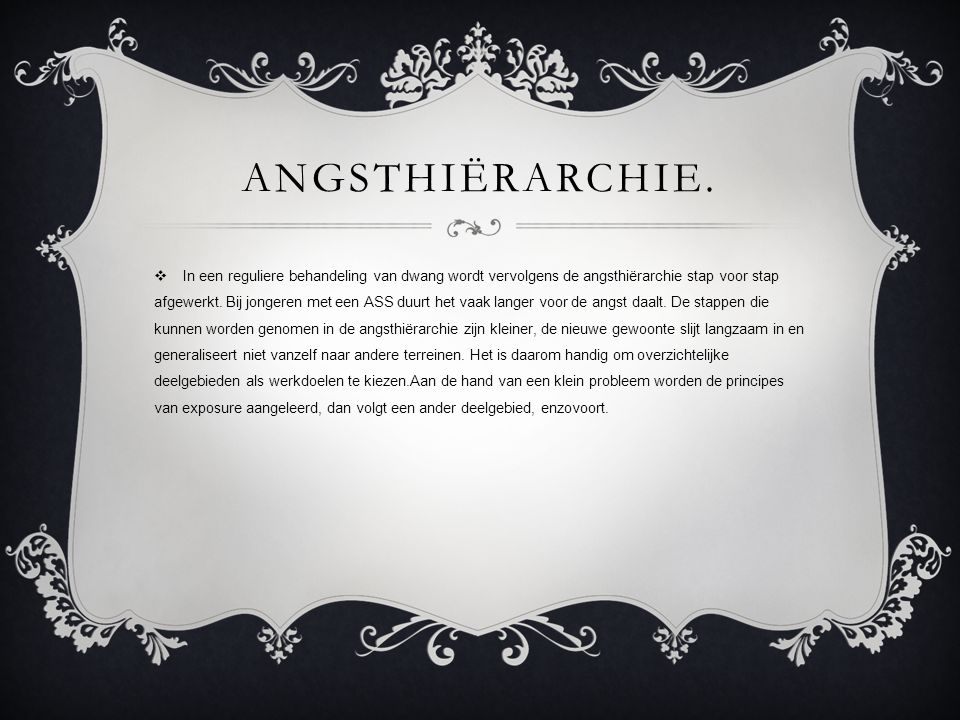 Angsthiërarchie.