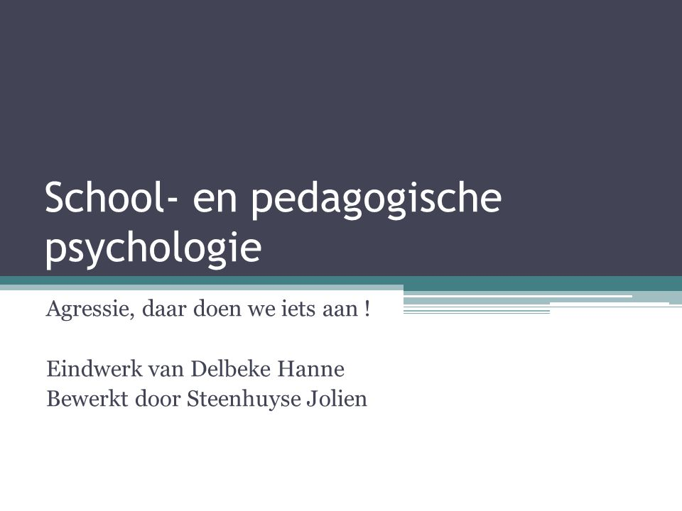 School- en pedagogische psychologie