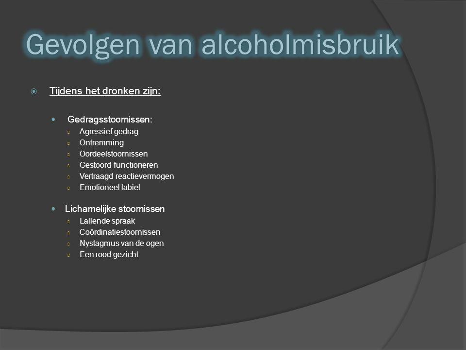 Gevolgen van alcoholmisbruik