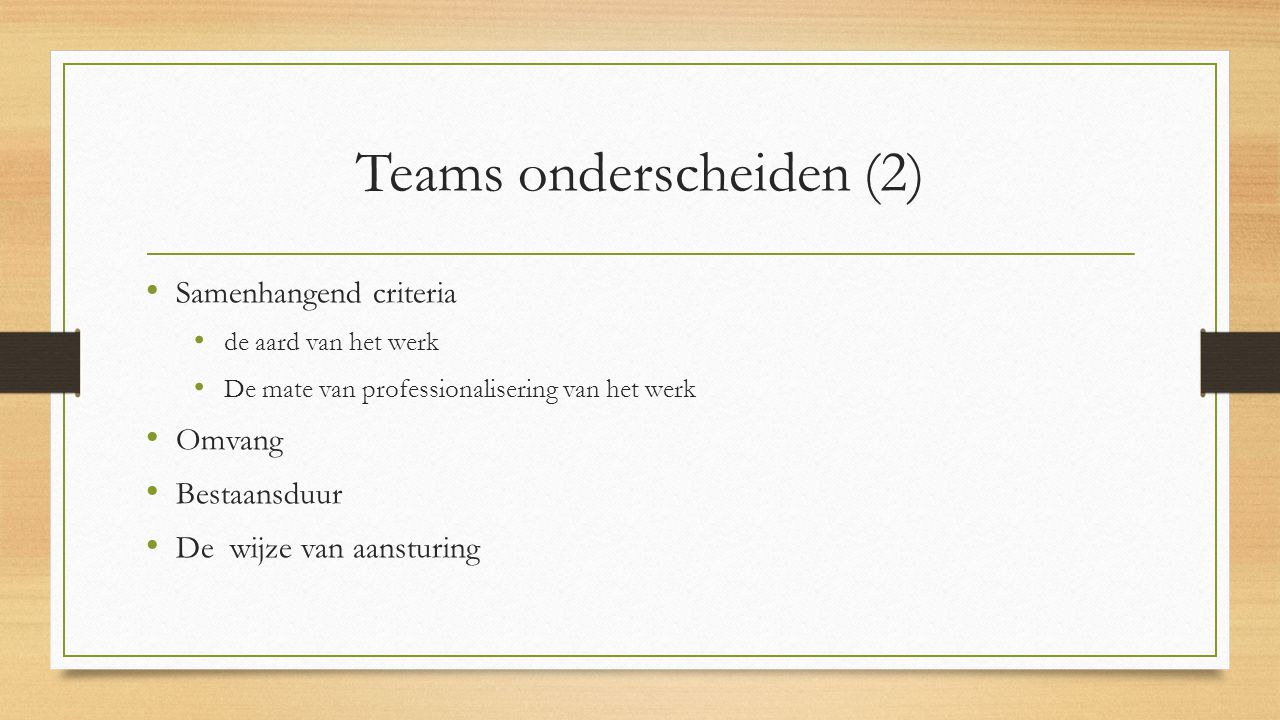 Teams onderscheiden (2)