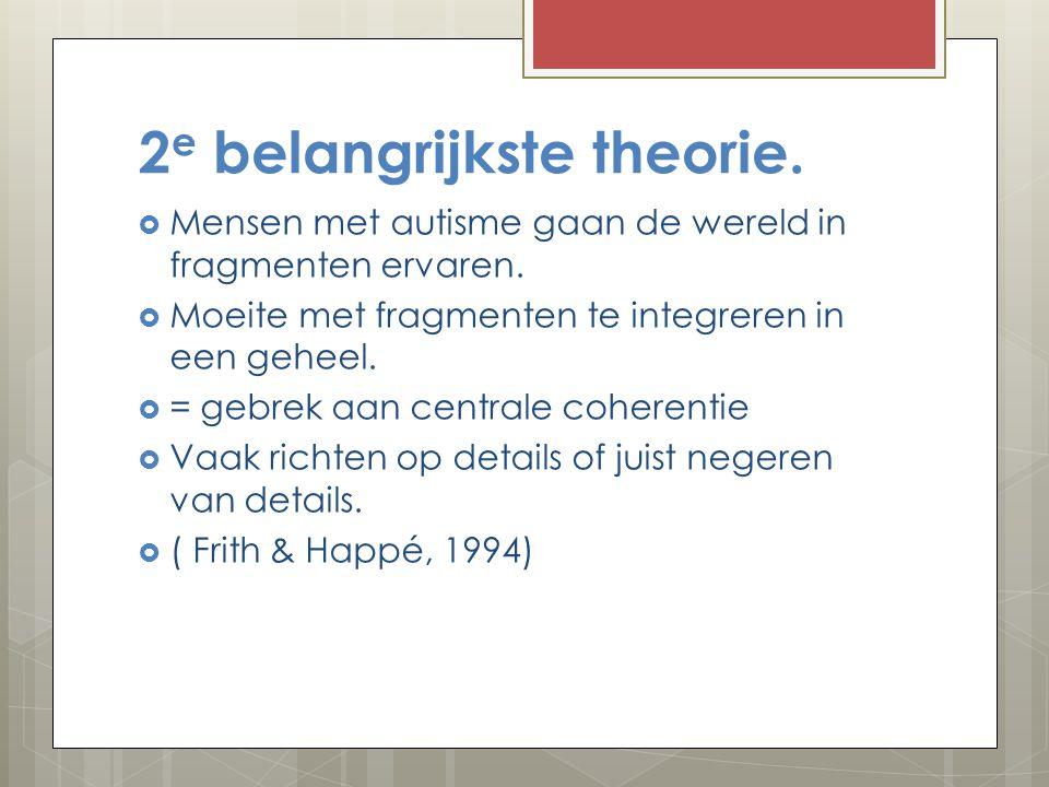 2e belangrijkste theorie.
