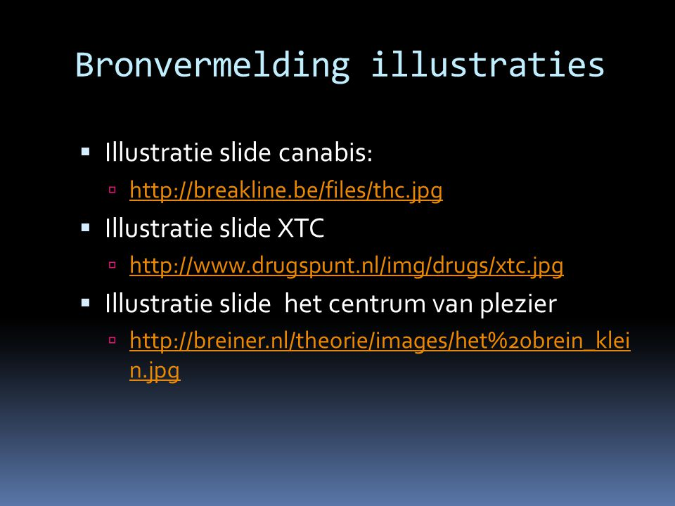 Bronvermelding illustraties