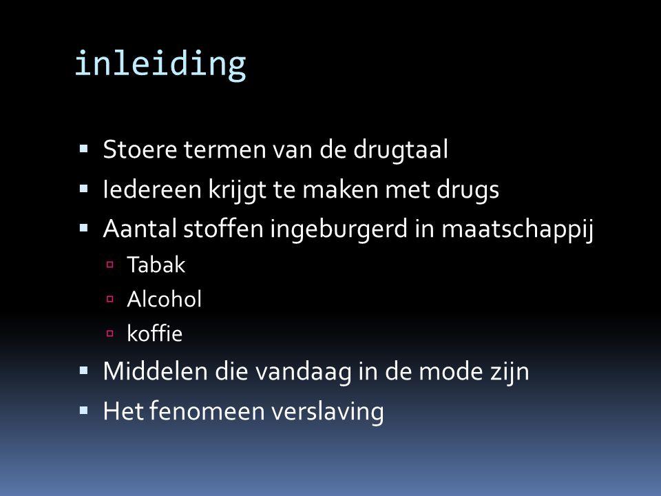 inleiding Stoere termen van de drugtaal