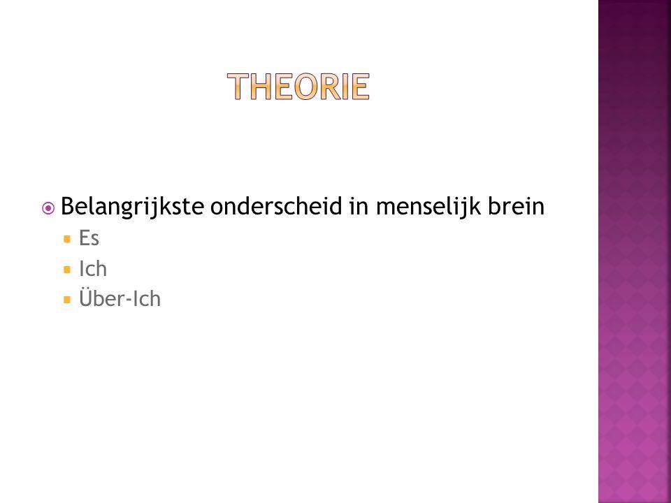 Theorie Belangrijkste onderscheid in menselijk brein Es Ich Über-Ich
