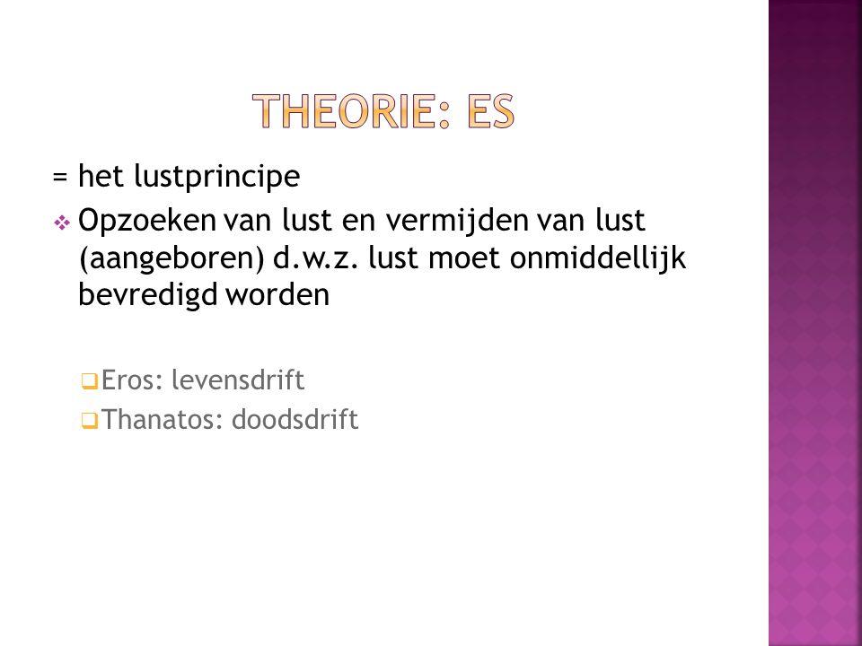 Theorie: ES = het lustprincipe