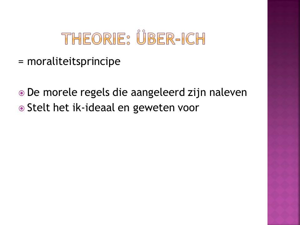 Theorie: Über-ich = moraliteitsprincipe