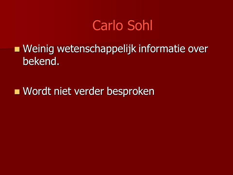 Carlo Sohl Weinig wetenschappelijk informatie over bekend.