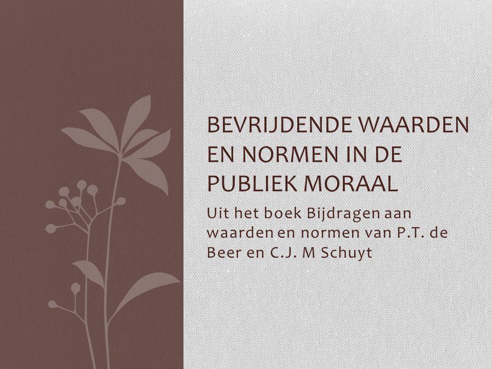 Bevrijdende waarden en normen in de publiek moraal