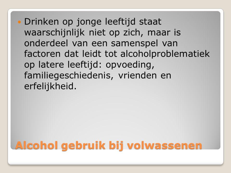 Alcohol gebruik bij volwassenen