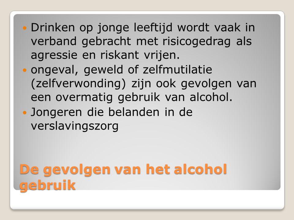 De gevolgen van het alcohol gebruik