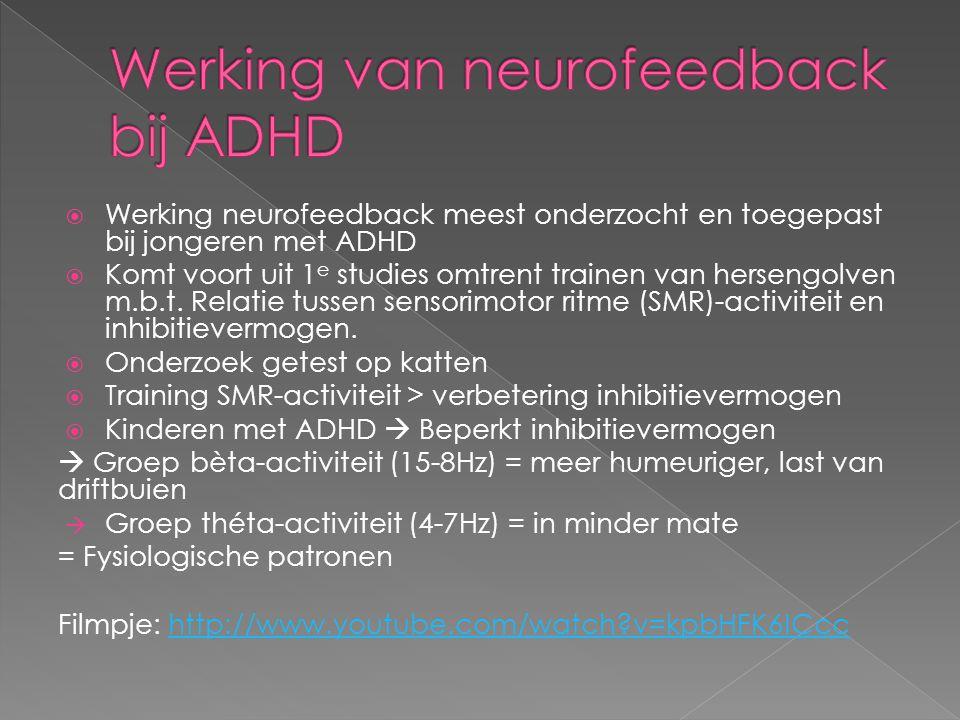 Werking van neurofeedback bij ADHD