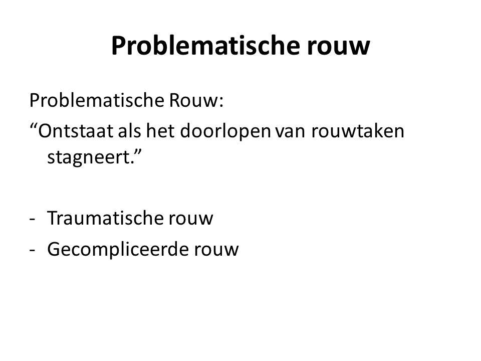 Problematische rouw Problematische Rouw:
