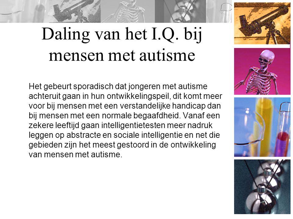 Daling van het I.Q. bij mensen met autisme