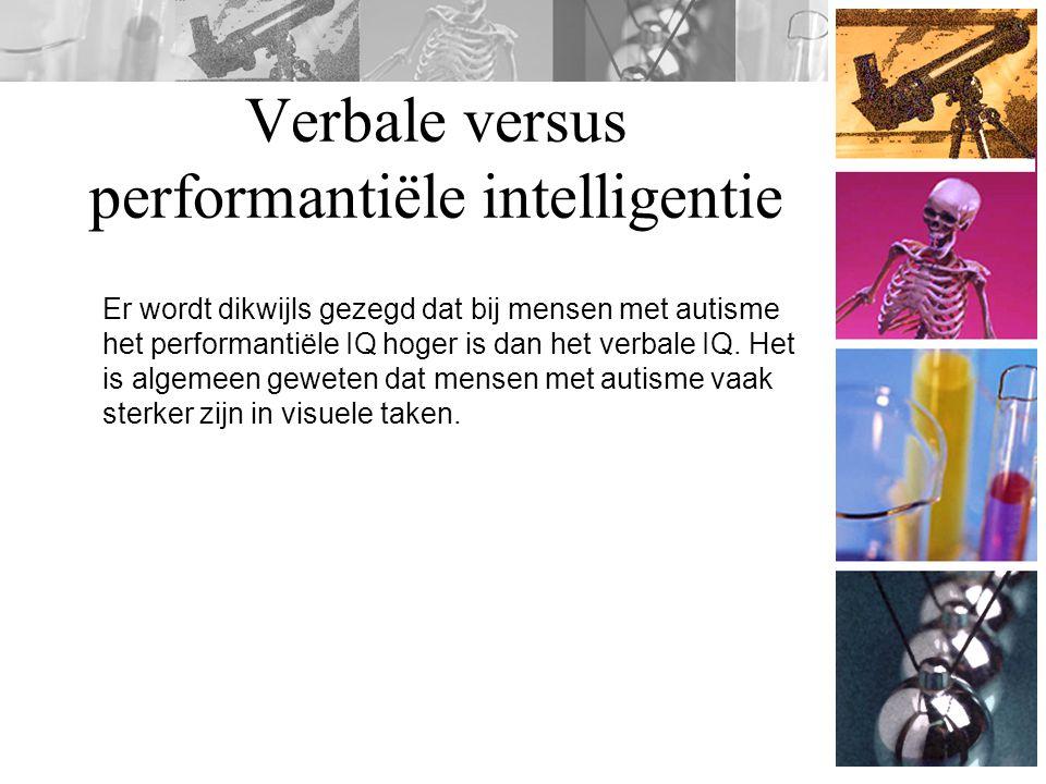 Verbale versus performantiële intelligentie
