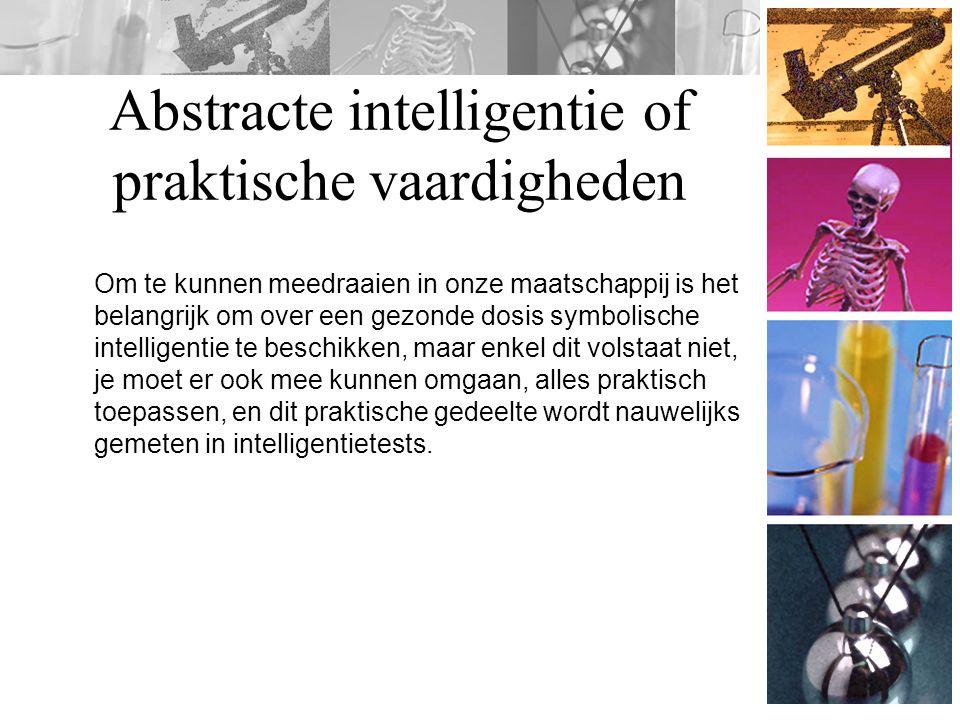 Abstracte intelligentie of praktische vaardigheden