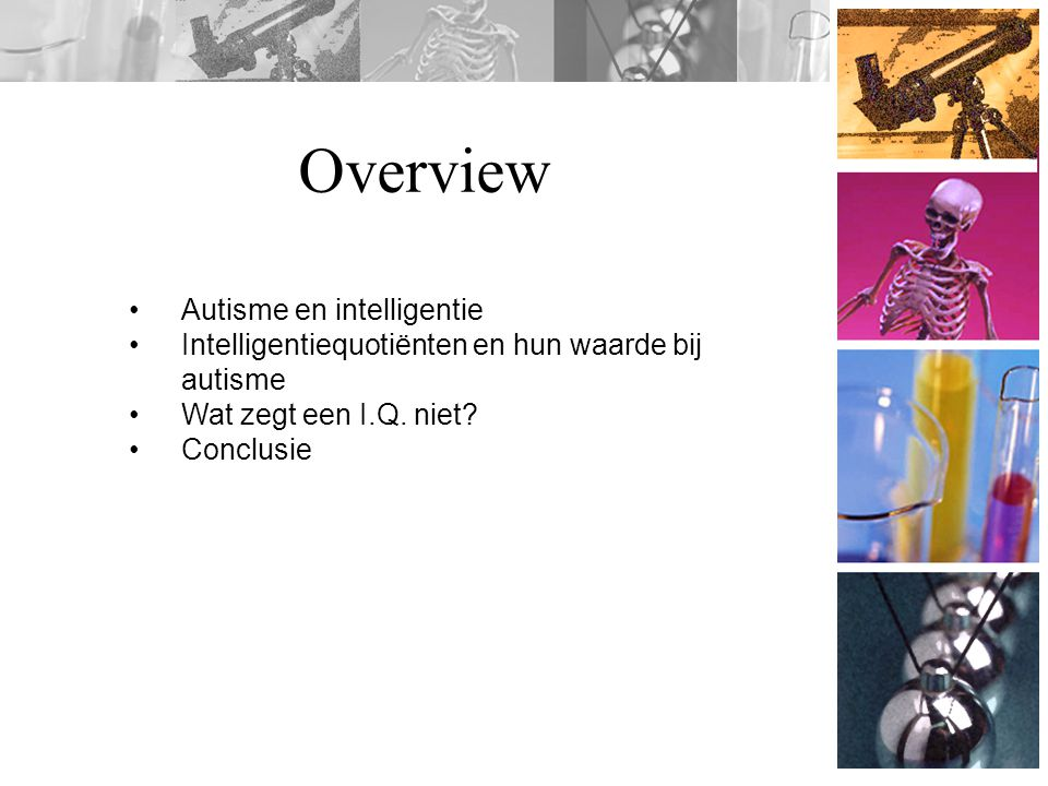 Overview Autisme en intelligentie