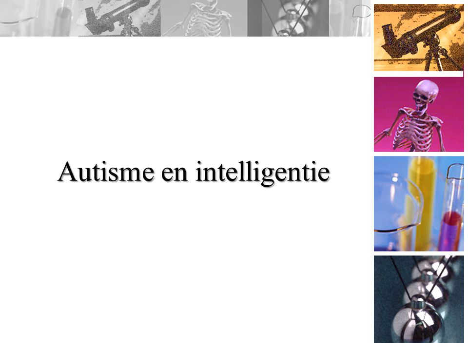 Autisme en intelligentie