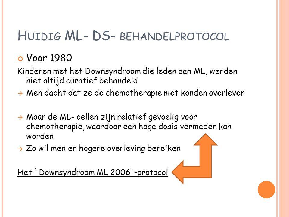 Huidig ML- DS- behandelprotocol