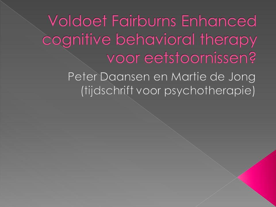 Peter Daansen en Martie de Jong (tijdschrift voor psychotherapie)