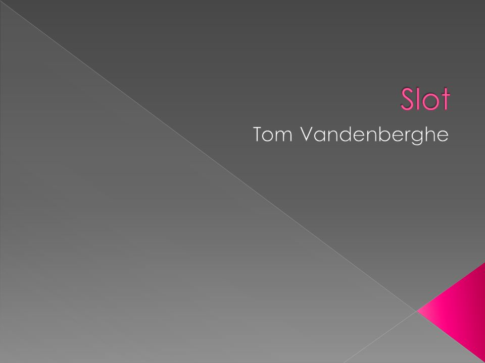Slot Tom Vandenberghe