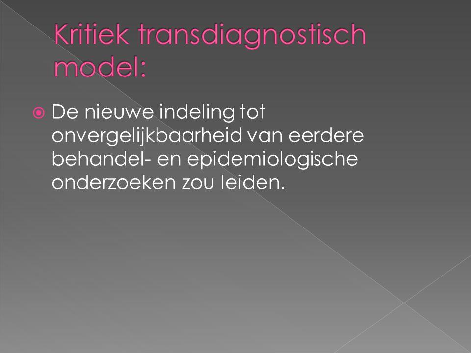 Kritiek transdiagnostisch model:
