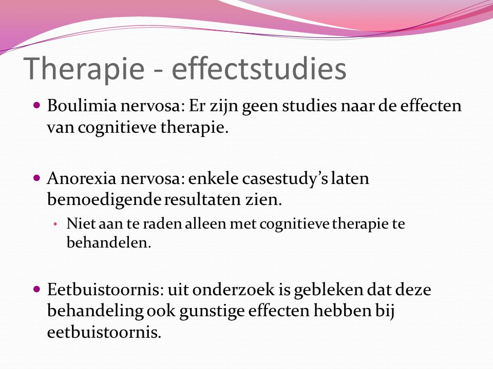 Therapie - effectstudies