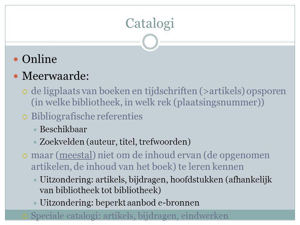 Catalogi Online Meerwaarde: