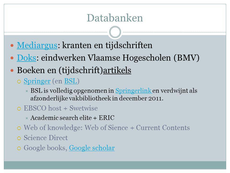 Databanken Mediargus: kranten en tijdschriften