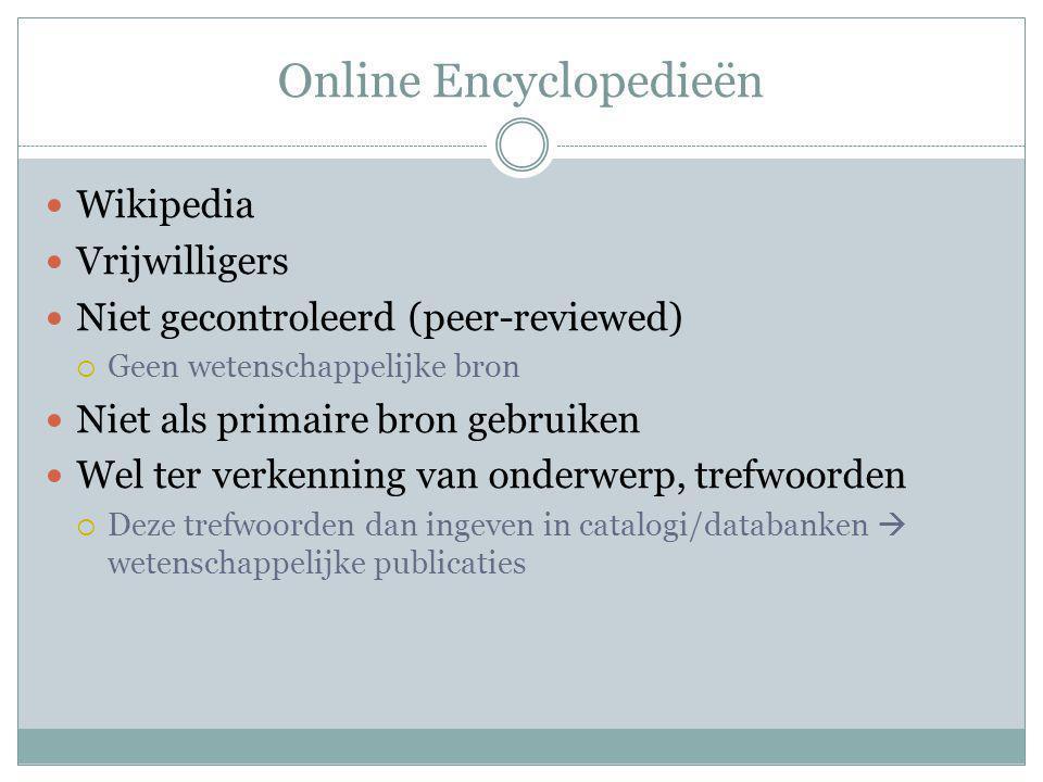 Online Encyclopedieën