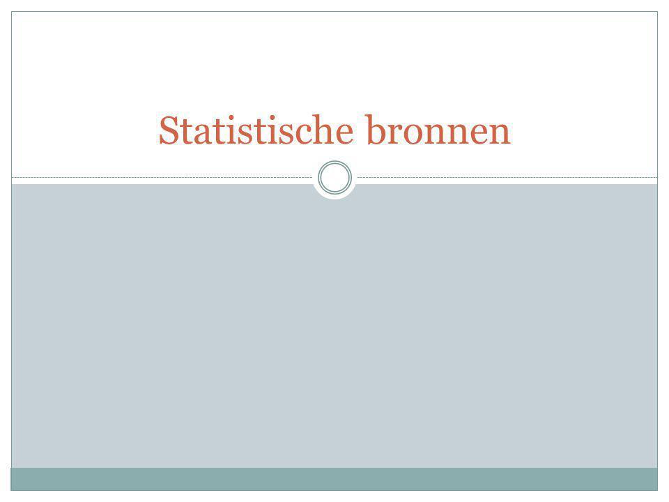 Statistische bronnen