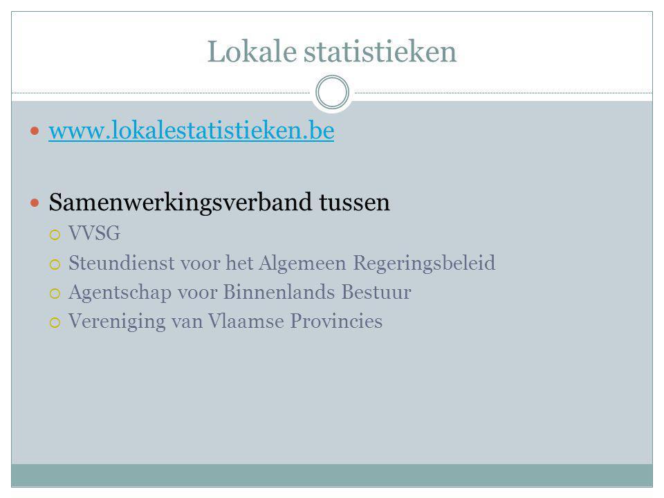 Lokale statistieken www.lokalestatistieken.be