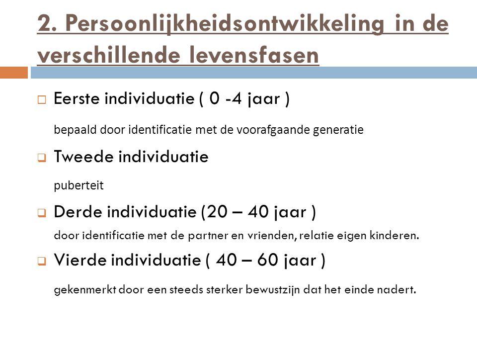 2. Persoonlijkheidsontwikkeling in de verschillende levensfasen