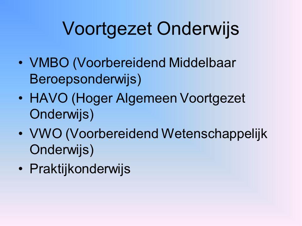 Voortgezet Onderwijs VMBO (Voorbereidend Middelbaar Beroepsonderwijs)
