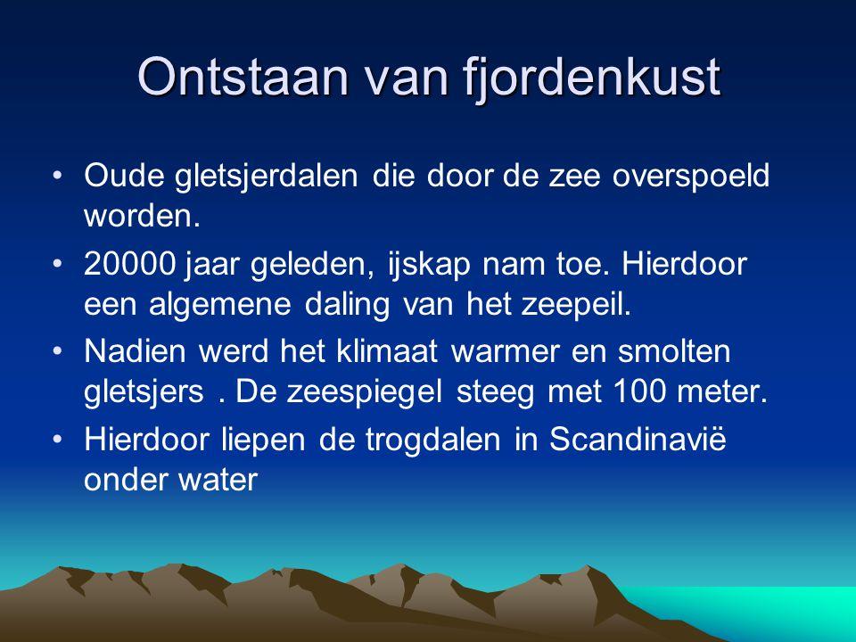Ontstaan van fjordenkust