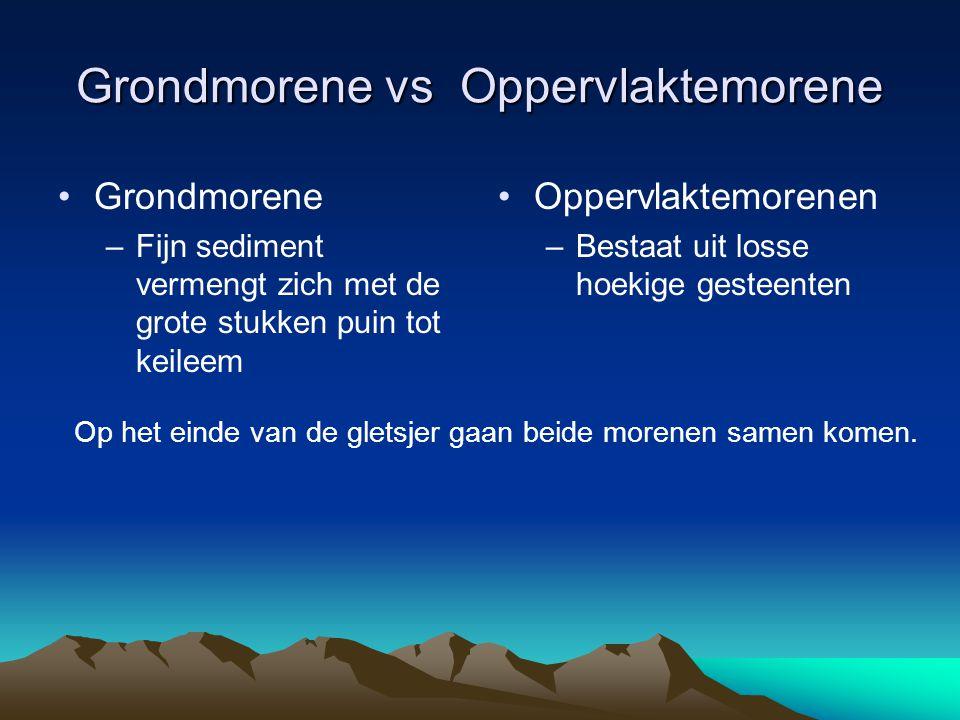 Grondmorene vs Oppervlaktemorene