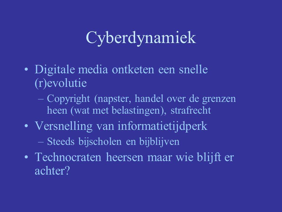 Cyberdynamiek Digitale media ontketen een snelle (r)evolutie